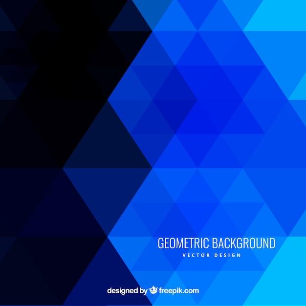 Geometric background in blue tones Vector | Premium Download