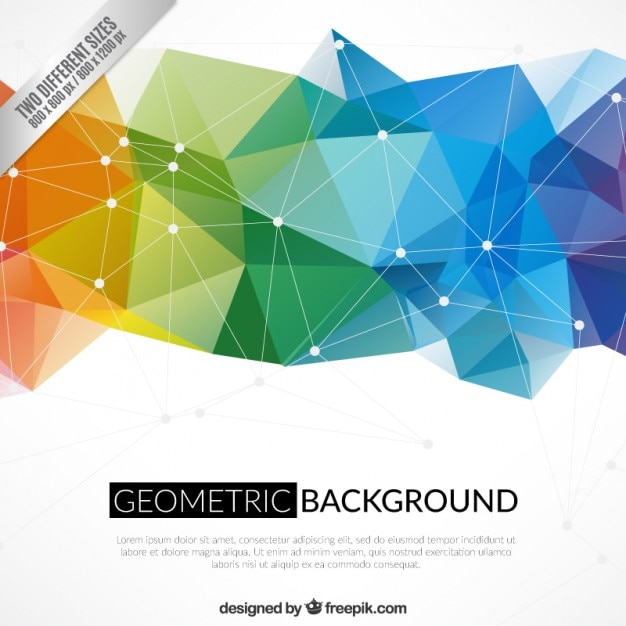 Geometric background in colorful style Free Vector