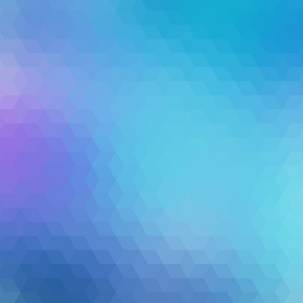 Geometric background in different blue\ tones