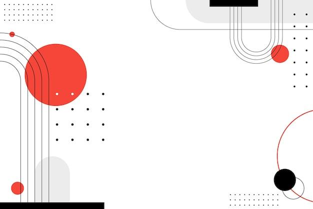 일본 스타일의 기하학적 배경 프리미엄 벡터