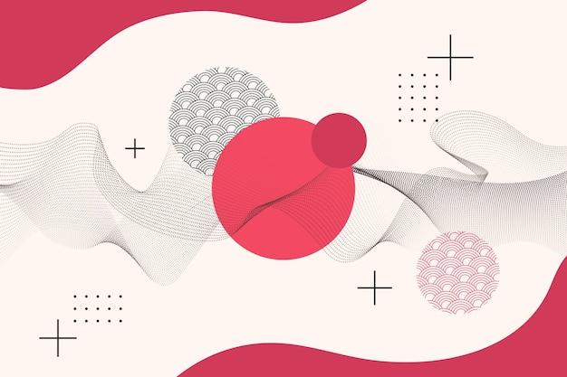 Геометрический фон в японском стиле Бесплатные векторы