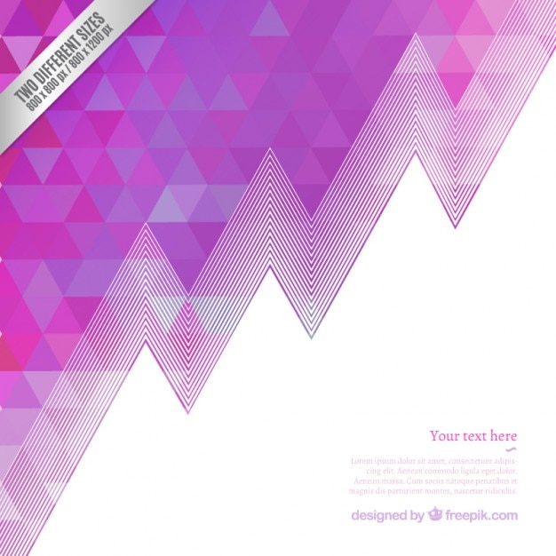 Modern Music Poster With Glitch Triangle: Geometric Background In Purple Tones Vector