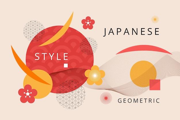 Geometric background in japanese design Premium Vector