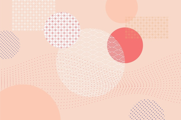 Geometric background in japanese style concept Free Vector