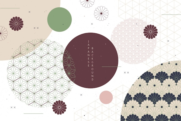 Geometric background in japanese style Free Vector
