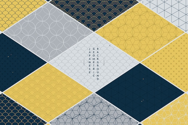 Geometric background in japanese style Premium Vector