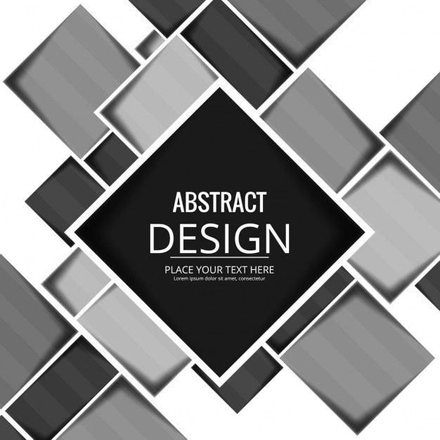 Geometric background with black and white squares Vector ...