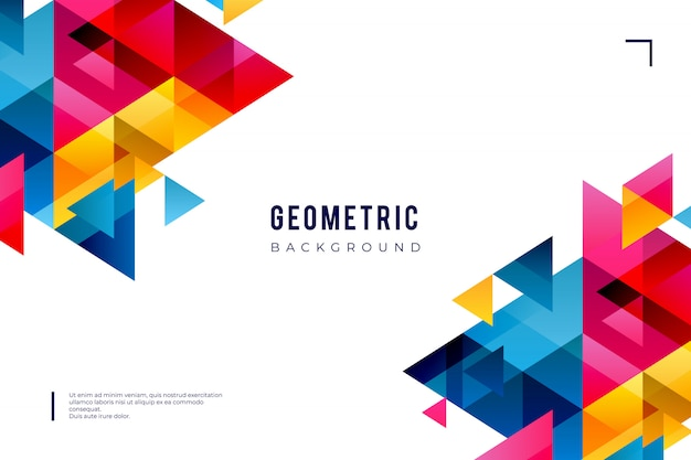 Geometric background with colorful shapes Free Vector