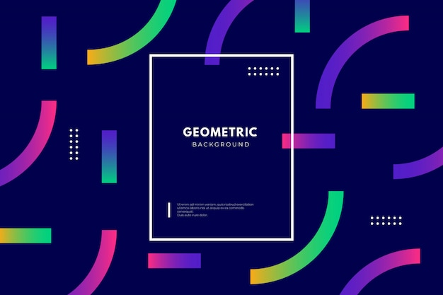 Geometric background with gradient shapes Free Vector