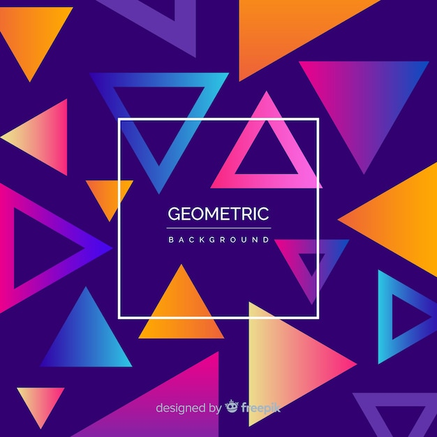 Geometric background with gradients Free Vector