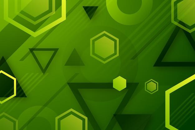 Геометрический фон с зелеными фигурами Бесплатные векторы