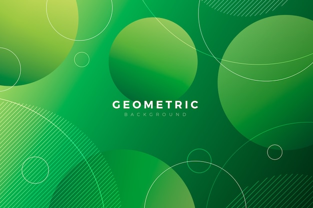 Geometric background with green shapes Free Vector