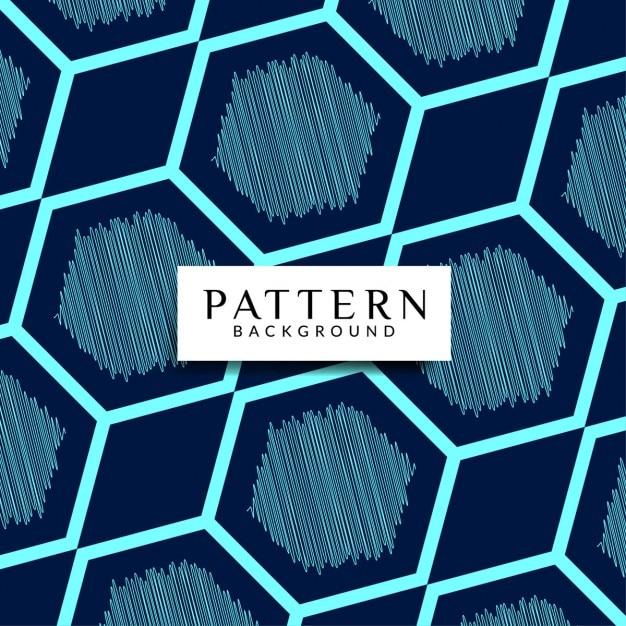 Geometric background with scribbled shapes Free Vector