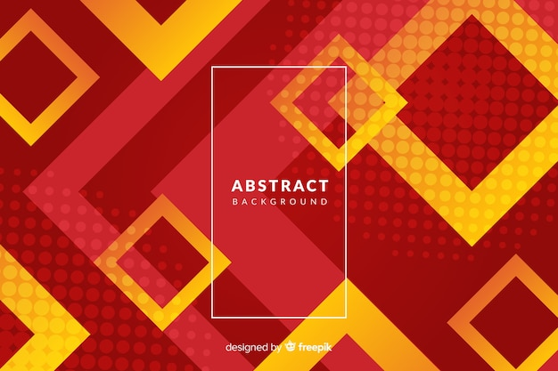 Geometric background with squared shapes Free Vector