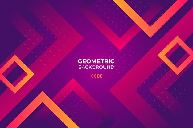 Geometric background with squares Free Vector