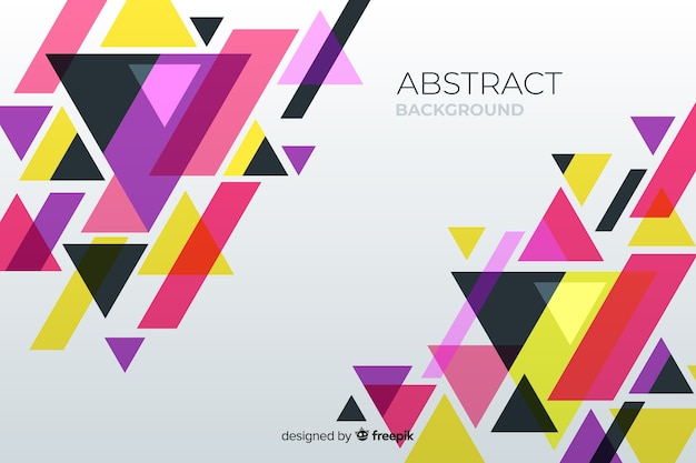 Geometric background with triangles Free Vector