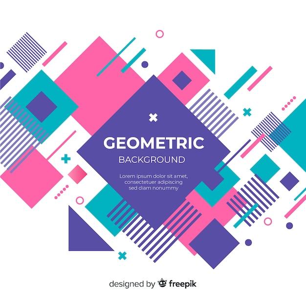 Geometric background Free Vector