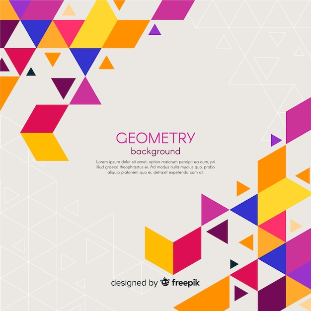 Geometric Background Vector Free Download