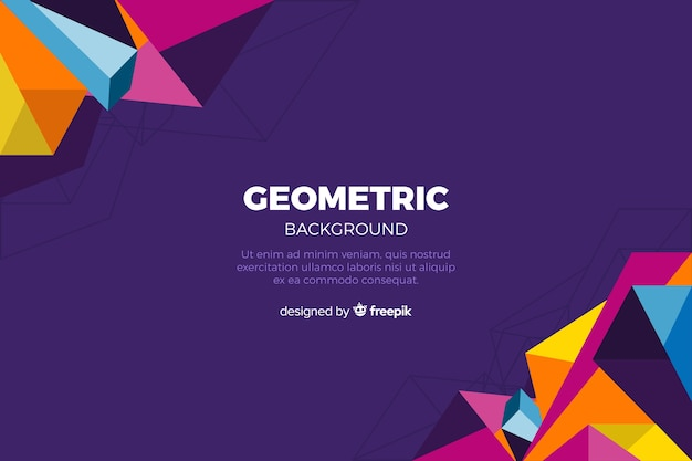 Geometric background Free Vector