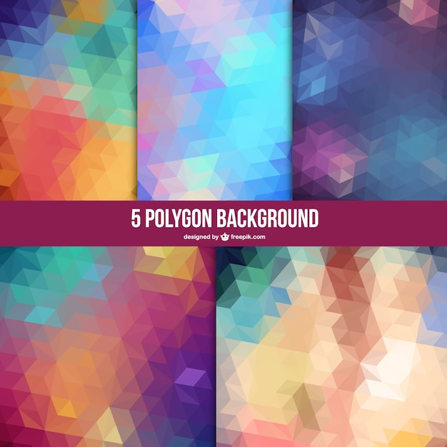 Geometric backgrounds set Free Vector