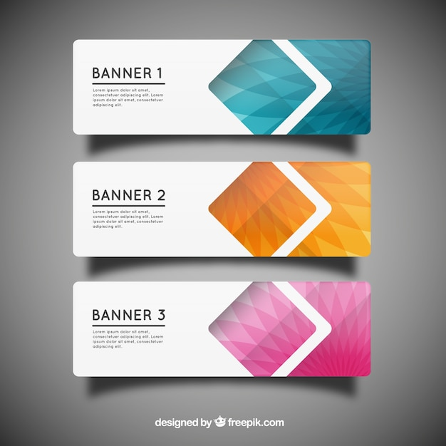 Geometric banner templates vector free download geometric banner templates free vector wajeb Image collections