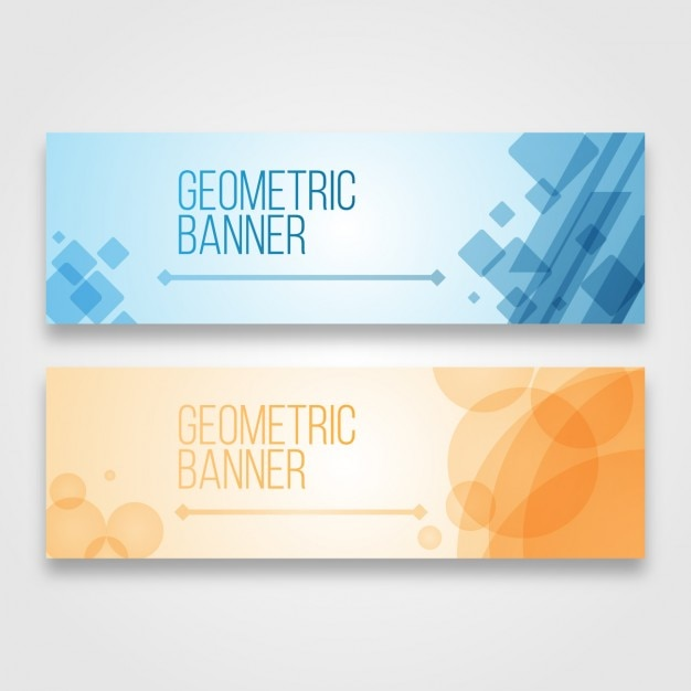 Geometric Banners Design Vector  Free Download