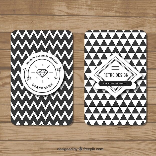 Geometric banners in hipster style Free Vector