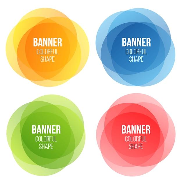 Geometric banners set Premium Vector