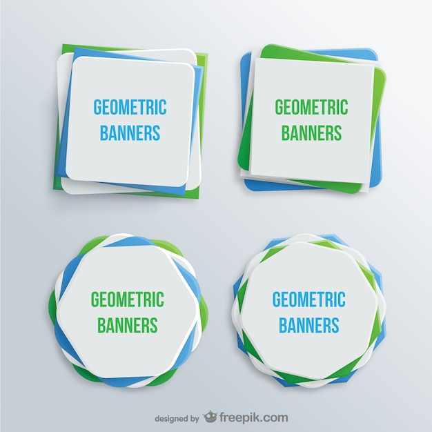 Geometric banners Free Vector