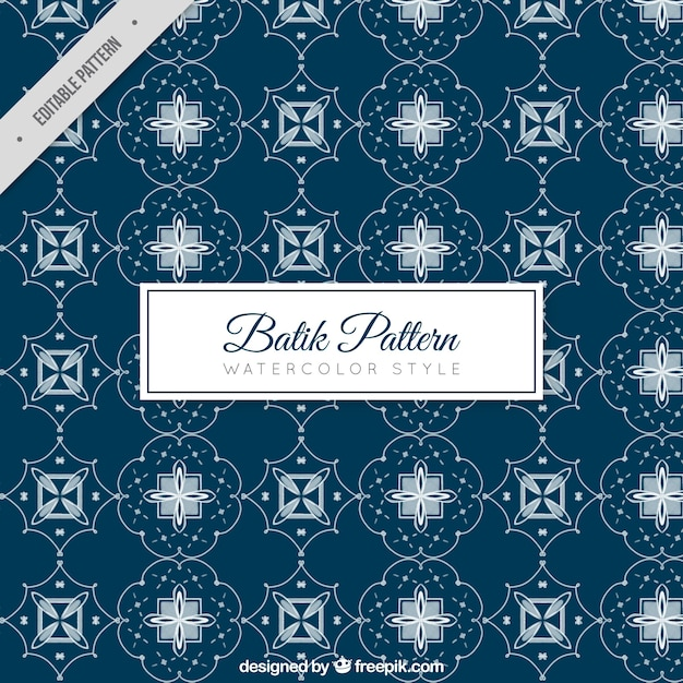 Geometric Batik Pattern Vector