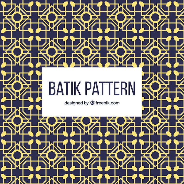 Geometric Batik Pattern Vector