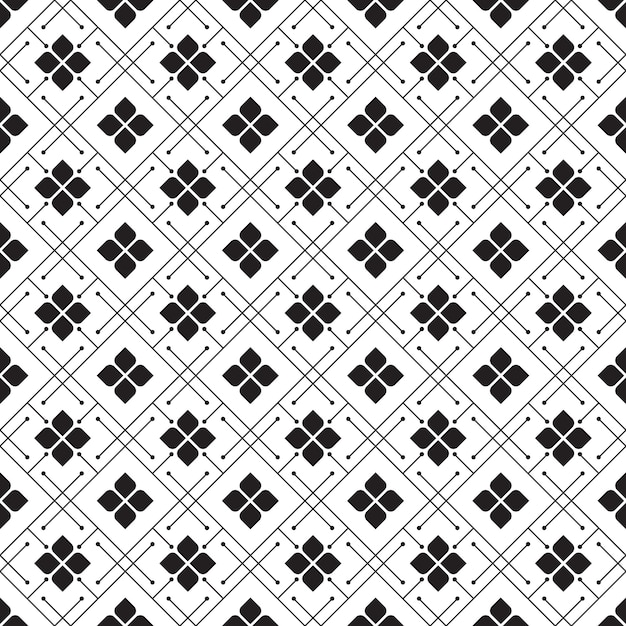 Geometric batik seamless pattern pattern background. classic fabric wallpaper. elegant ethnic decoration Premium Vector