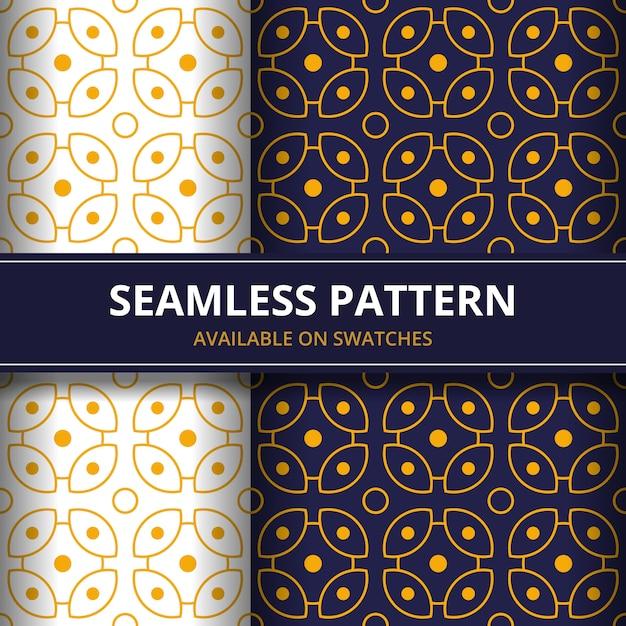 Geometric batik seamless pattern pattern background. classic fabric wallpaper. elegant ethnic decoration Premium Vector