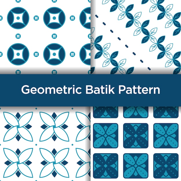 Geometric Batik Seamless Pattern