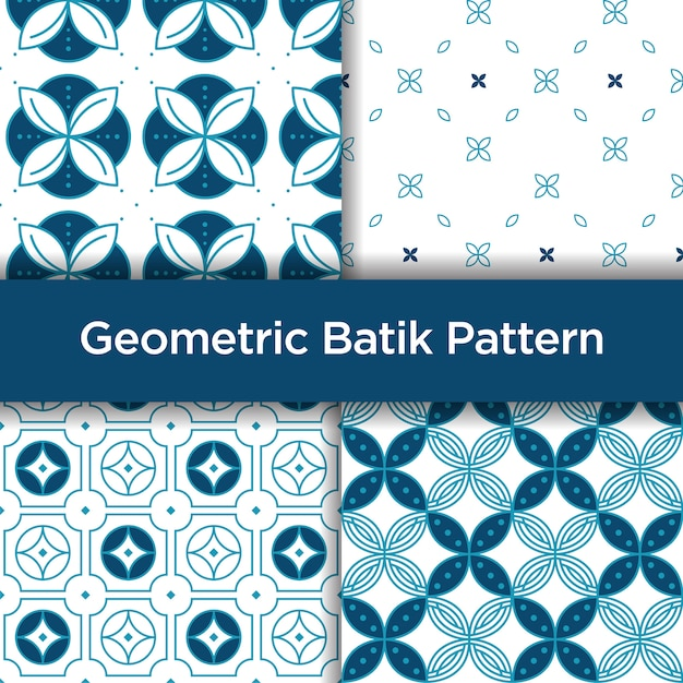 Geometric Batik Seamless Pattern Vector
