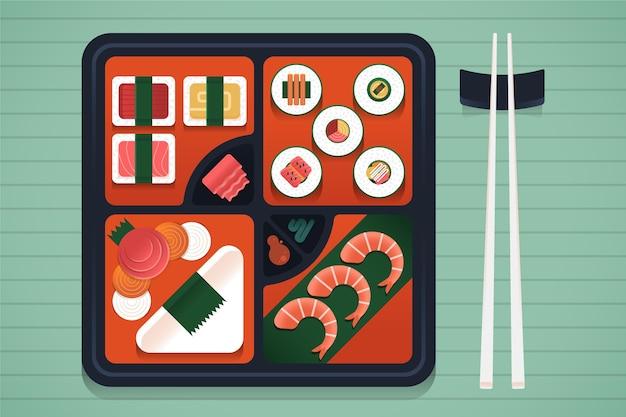 건강에 좋은 음식 야채 또는 과일 도시락 상자 도시락 학교 상자