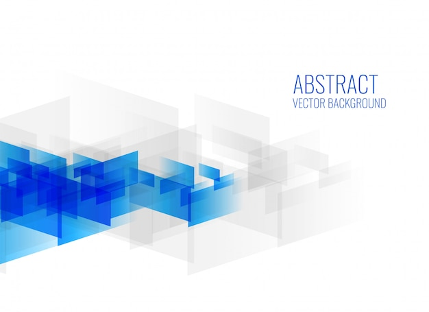 geometric blue abstract shapes on white background Free Vector