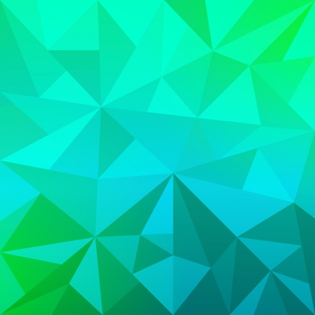 Geometric blue and green background Vector | Free Download