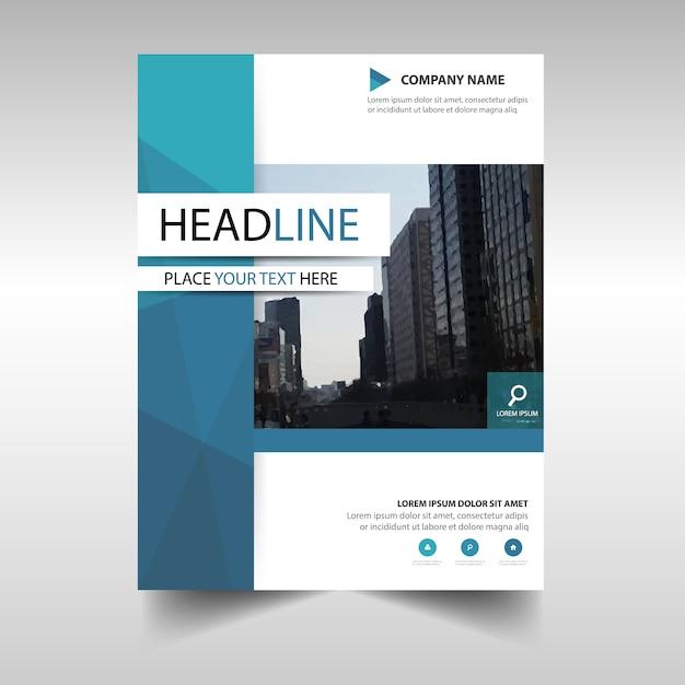 Modello blu di copertina del libro di rapporto creativo blu Vettore gratuito