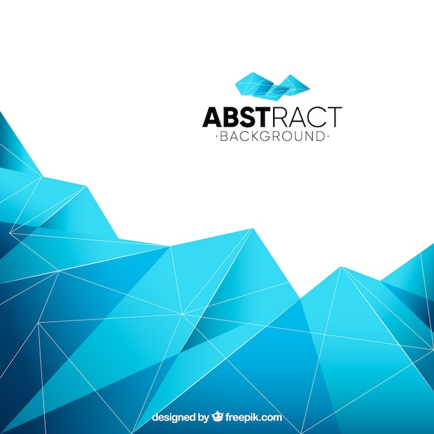 Geometric blue background Vector | Free Download