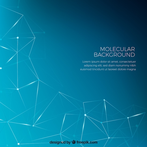 Geometric blue background Free Vector