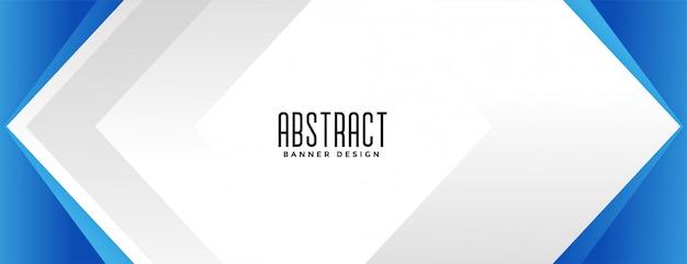 Geometric blue business style presentation banner design Free Vector