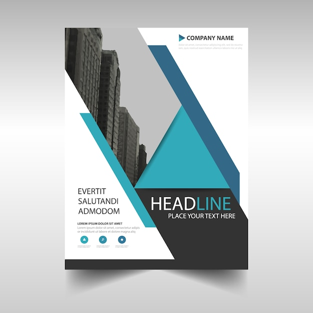 Book Cover Portadas Word : Geometric booklet cover vector free download