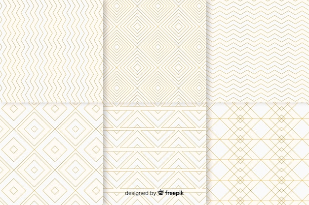 Geometric bright luxury pattern collection Free Vector