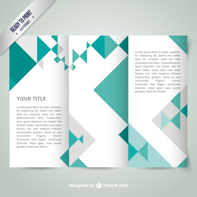 Geometric Brochure Template Vector  Free Download
