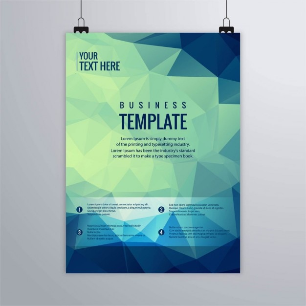 Geometric brochure Free Vector