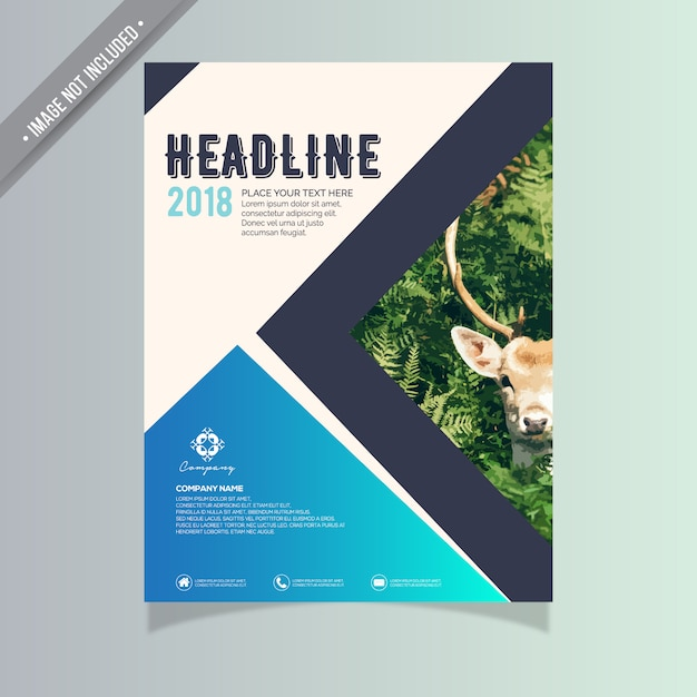 Geometric Business Brochure Design Vector  Free Download