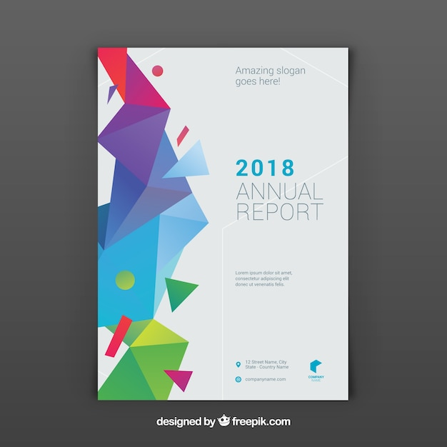 Geometric business brochure Premium Vector