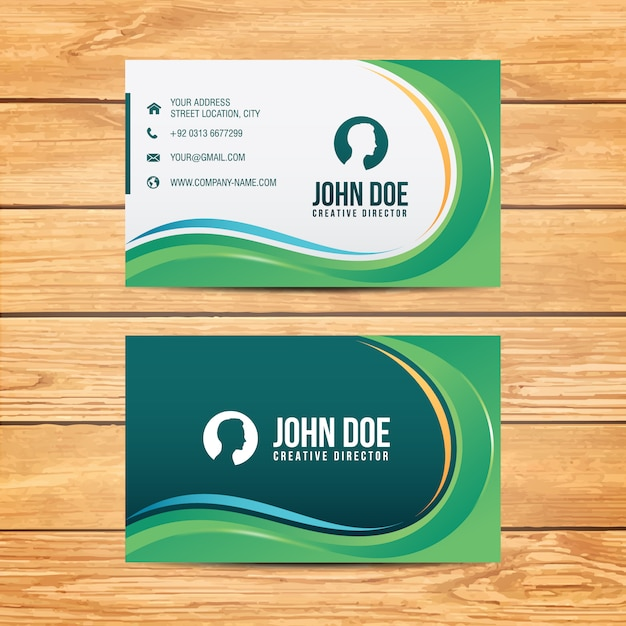 Geometric business card design Free Vector