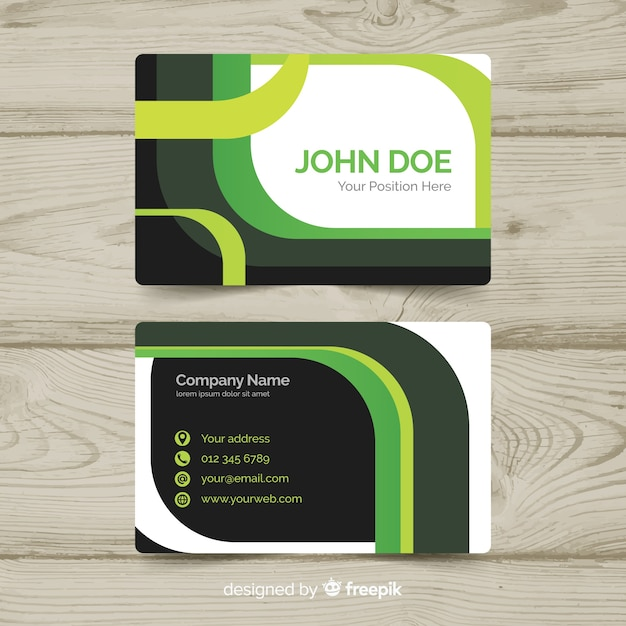 Geometric business card template Free Vector